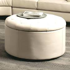 abbyson living havana round leather coffee table amusing