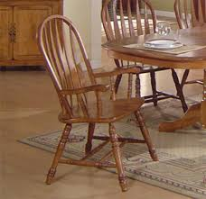 Solid Wood Kitchen Furniture Solid Oak Dining Table Arrowback Chair Set By Eci Furniture