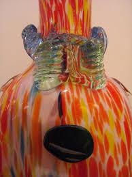 decorative murano glass clown decanter