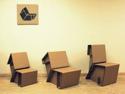 Recycling Cardboard for Contemporary Furniture Design Ideas from