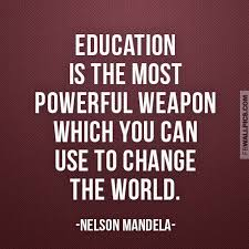 Education Is The Most Powerful Weapon Nelson Mandela Quote ... via Relatably.com