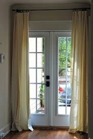 Image of: How to make french door curtains image