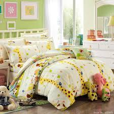 whole girls kitty giraffe print bedding cotton kids bed linen bedding twins queen king size home textile bedding green bedding sets