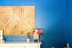 how to create a gorgeous large scale geometric wood wall art piece for your home