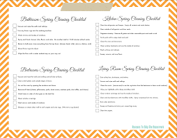 lazy girl s spring cleaning checklist printable orange checklist