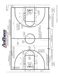 Ncaa Basketball Court Diagram Anthem Sports