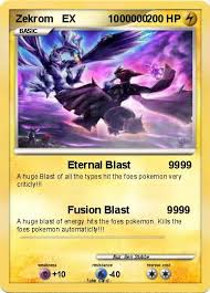 Small Picture Pokmon Zekrom EX 000 000 Eternal Blast 9999 My