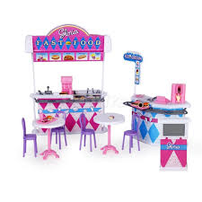 doll house furniture sets. Dollhouse Furniture Fast Food Stand W/ Chair Cashier Play Set For Barbie Doll House Sets