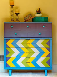 diy painting furniture ideas. Colorful Painted Furniture. Ci-susan-teare_chevron-painted-dresser_v Furniture Diy Painting Ideas