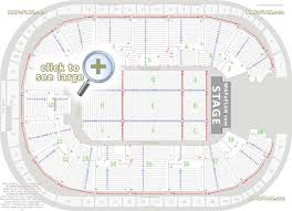 Detailed Seat Row Numbers Concert Stage Chart With Floor Map