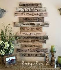 family rules reclaimed wood sign personalized signs rustic farmhouse decor new home housewarming gift for mom large inspirational wall art on always forever inspirational reclaimed wood wall art with family rules sign hand painted on rustic pallet wood pinterest