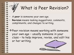 essay revision peer revision ppt
