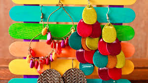 how to make a cool popsicle stick earring display diy style tutorial guidecentral you