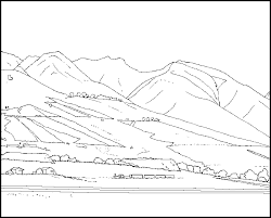 Small Picture Mountain Pictures Mountains Coloring Page Coloring Home