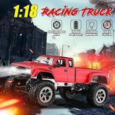 4WD 60km/h Max W/ Lights 2.4GHz <b>1:18 Remote Control</b> Car Truck ...
