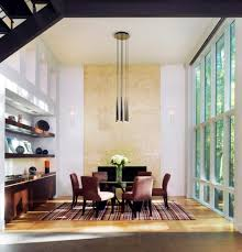 pendant lighting for high ceilings. lighting solutions for high ceilings dining room contemporary with striped rug granite fireplace surround builtin buffet pendant