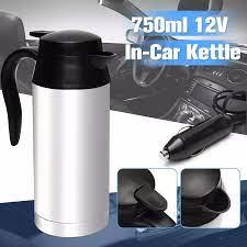 750 ml Araba Elektrikli Su Isıtıcısı Otomatik Isıtmalı Kupa 12 V SU ISITICI  Paslanmaz Çelik Araba Seyahat Su Isıtıcısı Seyahat Kahve çay Isıtmalı Kupa  Motor|Vehicle Heating Cup