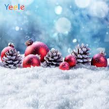<b>Yeele Winter Snow Christmas</b> Tree Ball Bokeh <b>Backdrop</b> Newborn ...