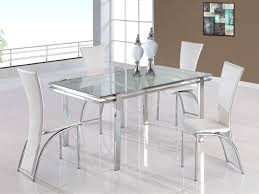 glass dining room set. Outstanding Dining Room Sets White Glass Lass Table Set Price And With Bench Chairs Extendable
