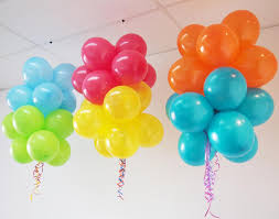 Colourful Floating Balloon Clouds