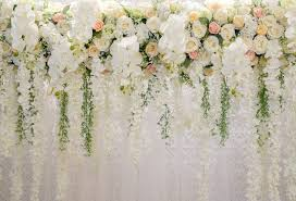 Paper Flower Background Us 5 44 32 Off Photography Backdrops Floral Wedding Backdrop For Party Paper Flower Photo Booth Studio Background Xt 6749 In Background From