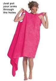 Dreams & Co. Women's Plus Size Wearable Towel • HowTheLook