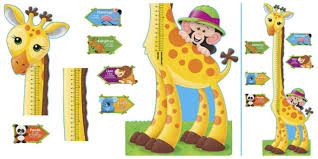 Trend Enterprises Giraffe Growth Chart Bulletin Board Set