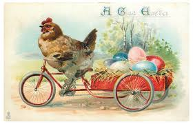 Chicken Bicycle Vintage Easter Free Stock Photo - Public Domain Pictures