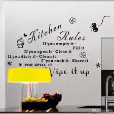 Empty Kitchen Wall Kitchen Rules If You Empty It Fill It Quotes Wall Decals Black