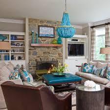 Turquoise Living Room Blue Brown Living Room Decorating Ideas House Decor