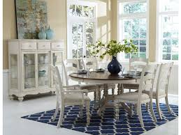 hillsdale pine island  piece round dining table set with ladder