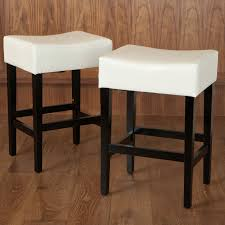 white leather backless counter stools