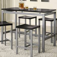 Metal Kitchen Table And Chairs Coaster 150095 Black Metal Dining Table And Chair Set Steal A