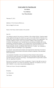 12 How To Write Cover Letter For Teaching Job Basic Job How To Write