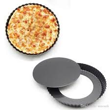 2018 non stick 8 8 inch 22 4cm high carbon steel quiche pan round cake mold pizza pan with removable bottom baking dish tray from saveach