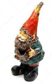 adorable wooden garden gnome with