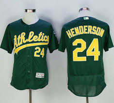 Stitched Baseball Cooperstown Authentic Jersey Rickey Collection Flexbase Henderson Green 24 Athletics fafdcdbaafbe|Robinson Athletic Information