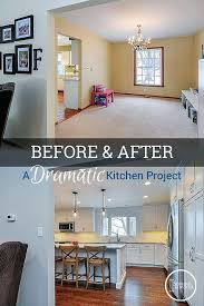 remove kitchen wall before after a dramatic kitchen renovation removing old kitchen wall tiles