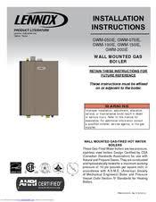 lennox gwm ie. lennox gwm-100ie installation instructions manual gwm ie i