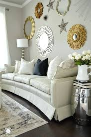 mirror gallery wall formal living room tour gold and silver sunburst mirror gallery wall in vintage mirror gallery wall