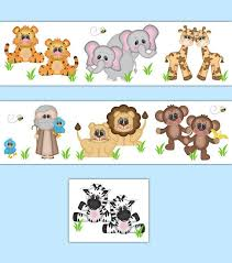 noahs ark nursery decal border wall art safari animal stickers neutral boy girl jungle room decor on wall art decals borders with 800 best wallpaper border images by decamp studios on pinterest