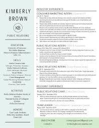 Public Relations Resume New KimberlyJBrown Resume
