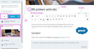 editor de artículo de wordpress