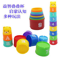 children early childhood chumei stacking cup with numbers stacked cup retainer cup stack up