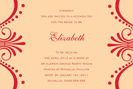 Kitchen Tea Party Invitation Tea Party Postcard In Orange Invitation