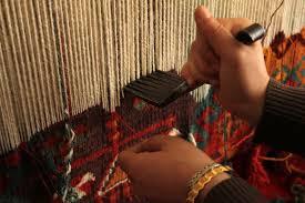 handmade wool area rug creation