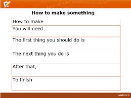 Writing Instructions Template Template Writing Frame Instructions2 Rm Easilearn Au