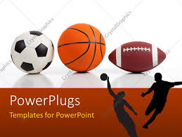 Basketball Powerpoint Template Powerpoint Template Sports Equipment On White Including A