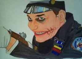 ic police parade scene joker without make up by painiack the joker without makeup dark knight