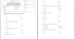 Lks matematika kelas 7 kurikulum 2013. Soal Matematika Kelas 4 Semester 1 Dan Kunci Jawaban Pecahan